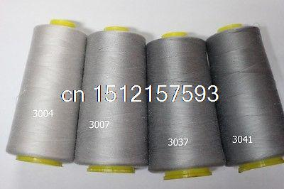 Light Grey 1 Spool 3000 Yards 100  Spun Polyester Sewing Thread  40S 2