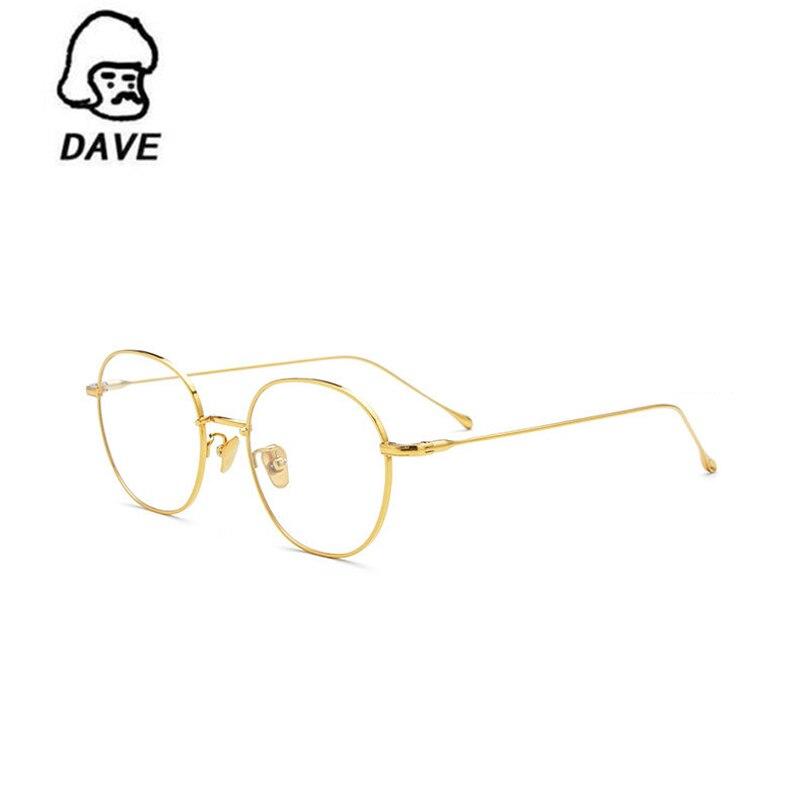 DAVE-نظارات طبية للنساء والرجال ، إطار من سبائك التيتانيوم ، وصفة طبية ، قصر النظر ، دائري ، عمل