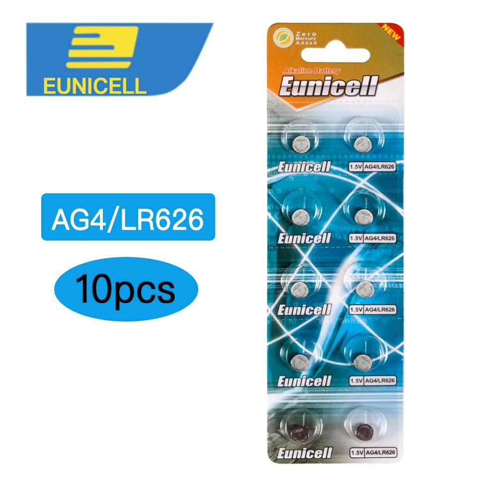 Батарея AG4 377A, 10 шт./лот, LR626, 377a, SR626SW, SR66, LR66, батарейка AG4, AG, 4, 377, батарея для часов, батарей для монет