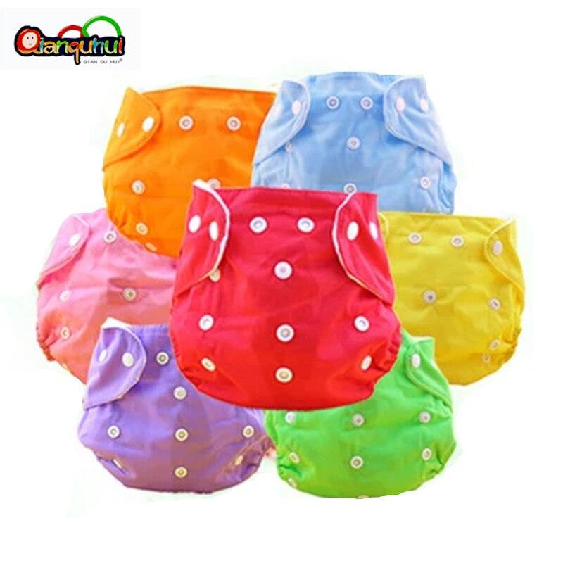 5 unids/lote de pañales reutilizables para recién nacidos, pañales de tela para bebés, lavables, tamaño libre, Fraldas ajustables, versión de invierno y verano