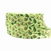 10 yards st patricks day print fold over elastic 58 avocado foe ribbon webbing for diy headwear hair tie hair accessory