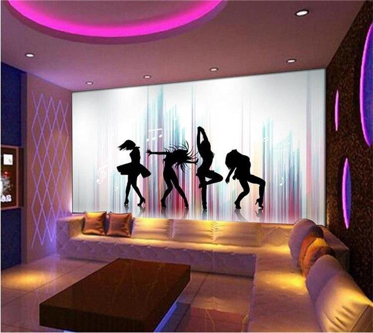 Papel pintado 3d foto personalizada papel tapiz mural belleza silueta bailarina 3d imagen TV sofá cama habitación KTV hotel sala de estar habitación de los niños