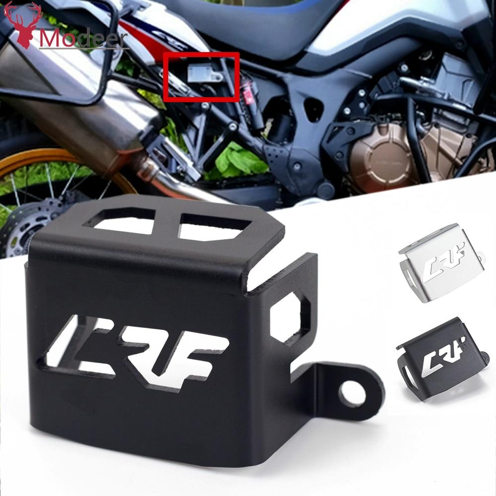 CNC Aluminium Motorrad Hinten Brems Reservoir Schutz Schutzhülle Für Honda CRF1000L Afrika Twin 2016 2017 CRF1000 CRF 1000 L