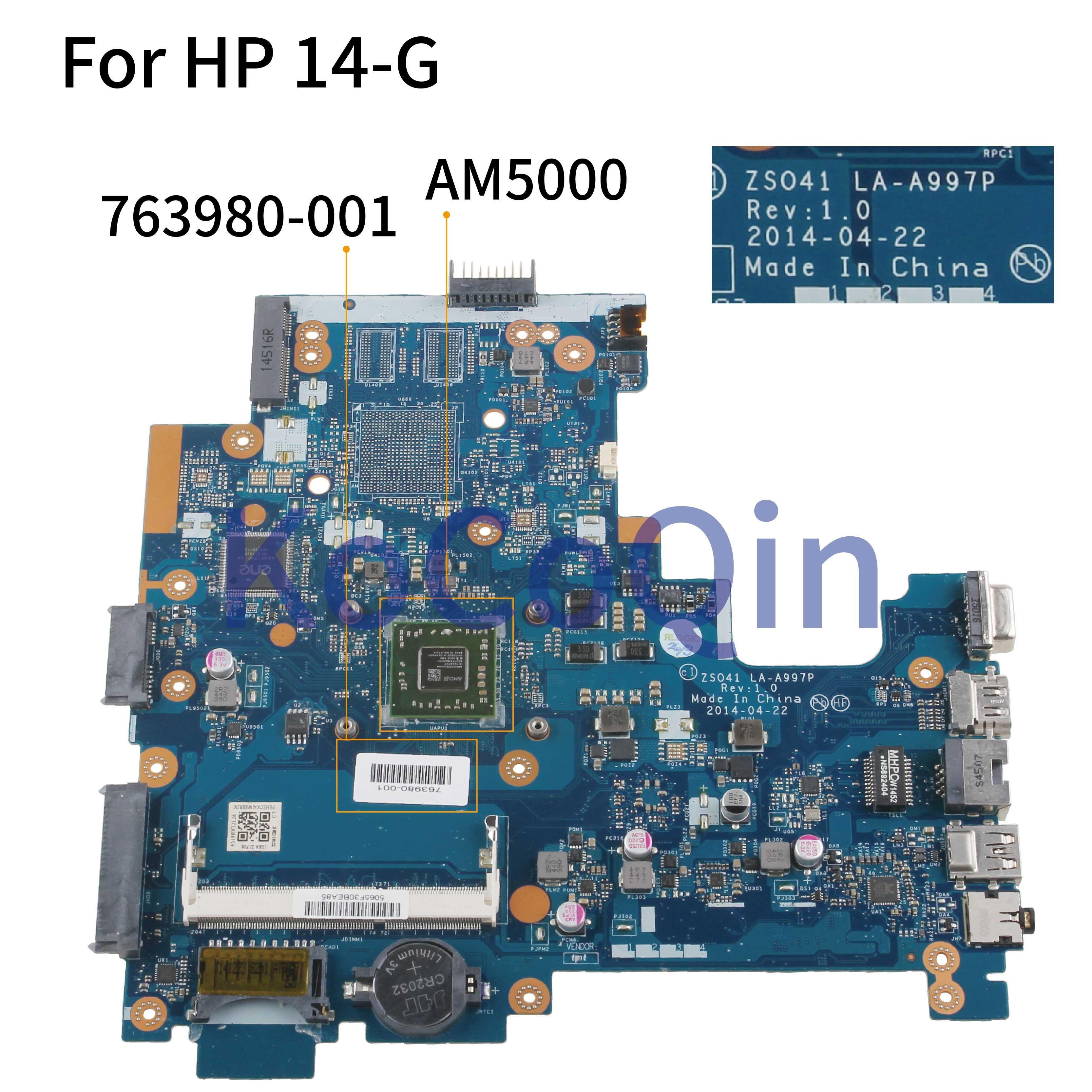 KoCoQin placa base para portátil HP 14-G 245 G3 Core AM5000 placa base 763980-001 763980-501 ZS041 LA-A997P