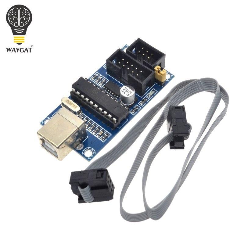 ¡WAVGAT USBTiny USBtinyISP AVR programador ISP de arranque Meag2560 uno r3 6pin Cable de programación!