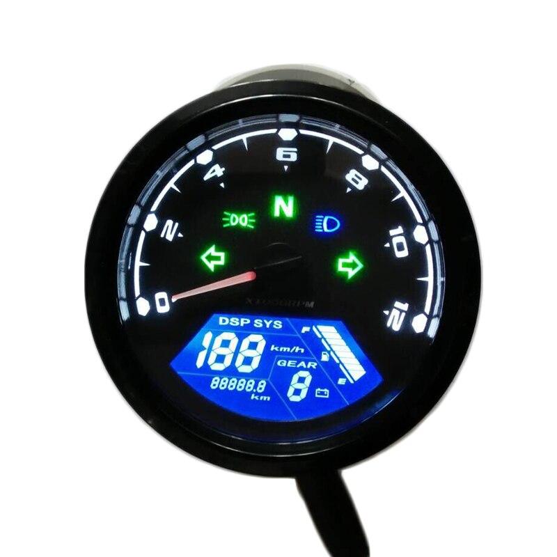Motocicleta Digital Universal, pantalla LCD de dos velocidades, velocímetro, odómetro, medidor de tecnología