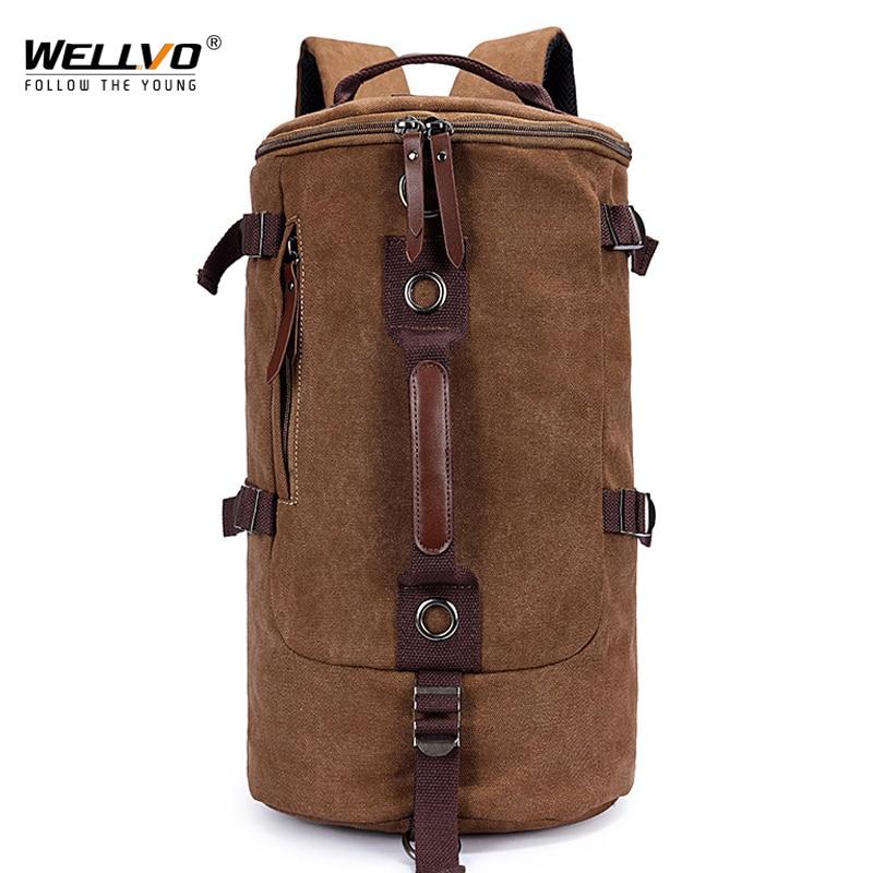 حقيبة ظهر قماشية للرجال ، حقيبة ظهر قماشية ذات سعة كبيرة ، حقيبة ظهر غير رسمية مع حزام كتف ، XA759C