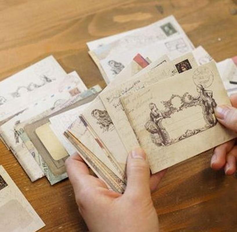 12Pcs/lot 12 Designs Paper Envelope Cute Mini Envelopes Vintage European Style For Card Scrapbooking Gift Hot Sale K6737