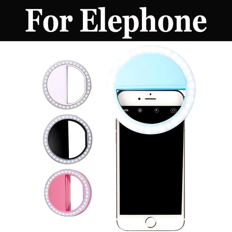 Venta caliente inteligente flash tipo Aro para selfies de luz para Elephone P9000 Lite P9000 R9 S7 Mini S7 M3 S3 Vowney P8 Mini C1 Max S8 P8 U Pro
