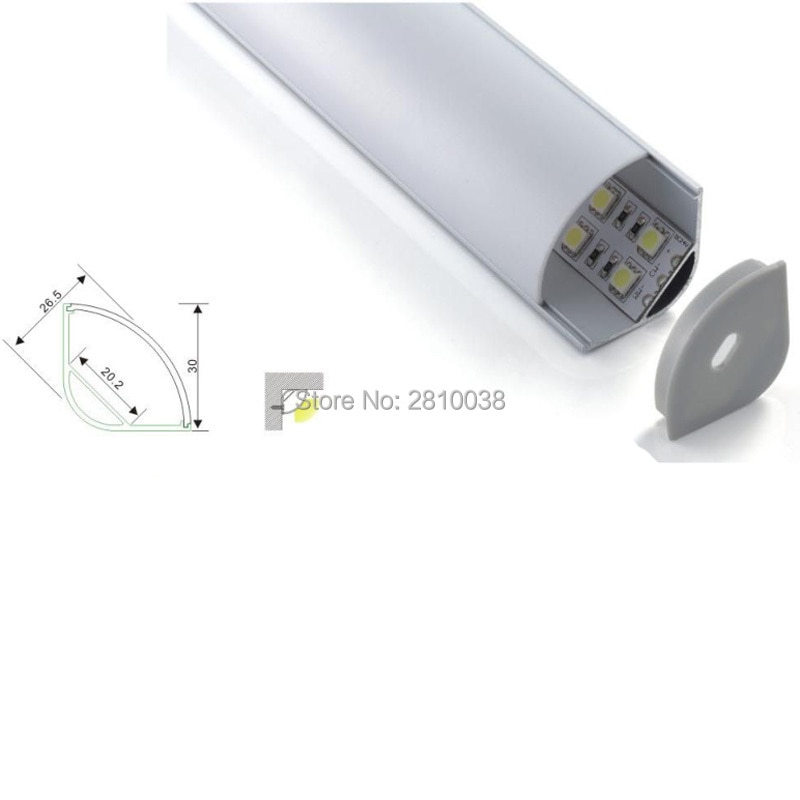 500 X 1M Sets/Lot 120 beam angle aluminum profile led strip light and V-shape led profile aluminum for cabinet closet light