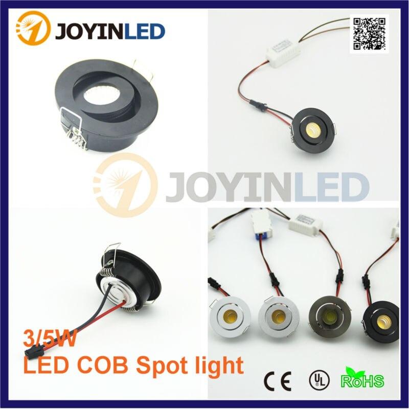 10pcs/lot 3W under cabinet home Mini COB led spot downlight Black enlarge
