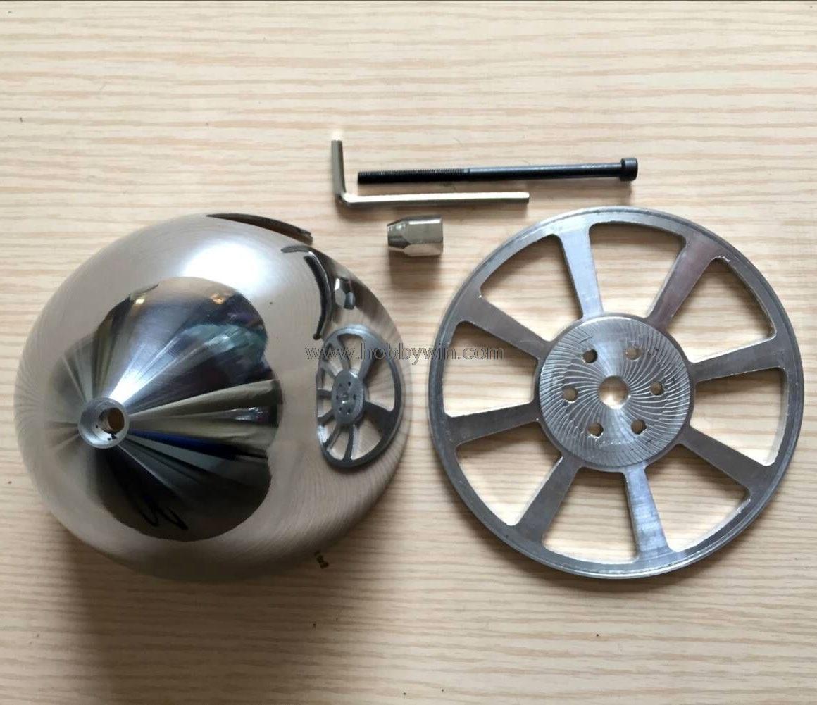 Spinner de aluminio de 2 ranuras de 102mm 4 pulgadas para propulsor de motor de Gas DLE dos cuchillas modelo de avión piezas de repuesto