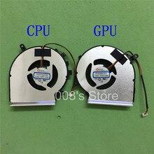 Nouveau CPU GPU DOEM radiateur de Fan Pour MSI GE72 GE62 PE60 PE70 GL62 GL72 2QD 2QE 2QF 007X 053X 216XCN Refroidisseur PAAD06015SL DC5V 0.55A