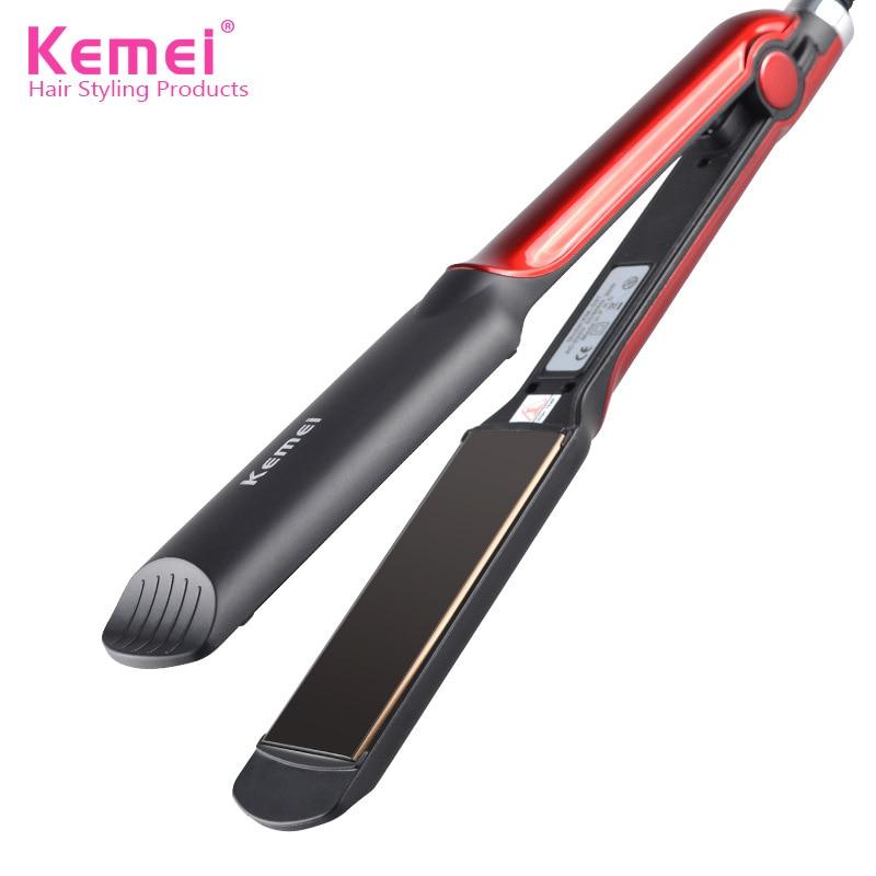 km531 profissional alisador de cabelo em ceramica endireitar ferro do cabelo curler