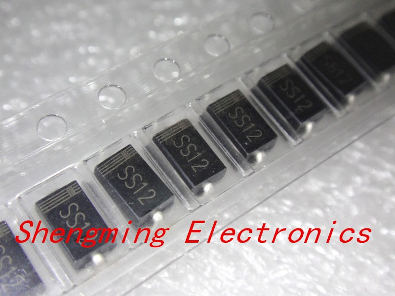 100 Uds SS12 1N5817 1A 20V diodo SMA Schottky DO-214AC IN5817