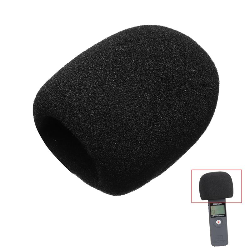 Esponja preta Brisas Tampa Para Gravador Digital Anti Poeira Redução de Ruído de Espuma Windscreen Cobrir para Zoom H1 Handy Recorder
