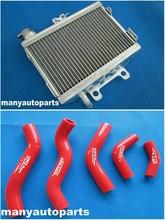 Aluminium Heizkörper & RED silikon schlauch FÜR Honda CR125 CR125R 98 99 CR 125 R 1998 1999