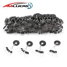 60 pièces 10 groupe noir espace haricots carpe mouche équipement de pêche pour ne pas blesser la ligne verticale bouchon ligne de pêche résistance matériel
