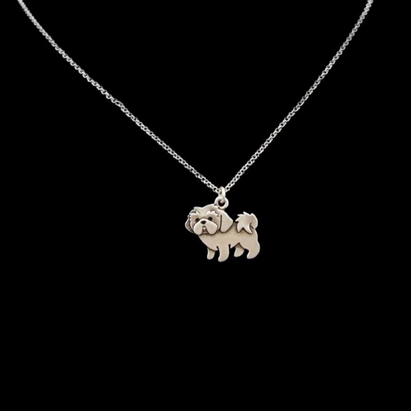 DANGGAO moda Vintage Hippie Shih Tzu colgante collar mujer Boho Mini Coco cuenta perro collar niñas regalo joyería Collier