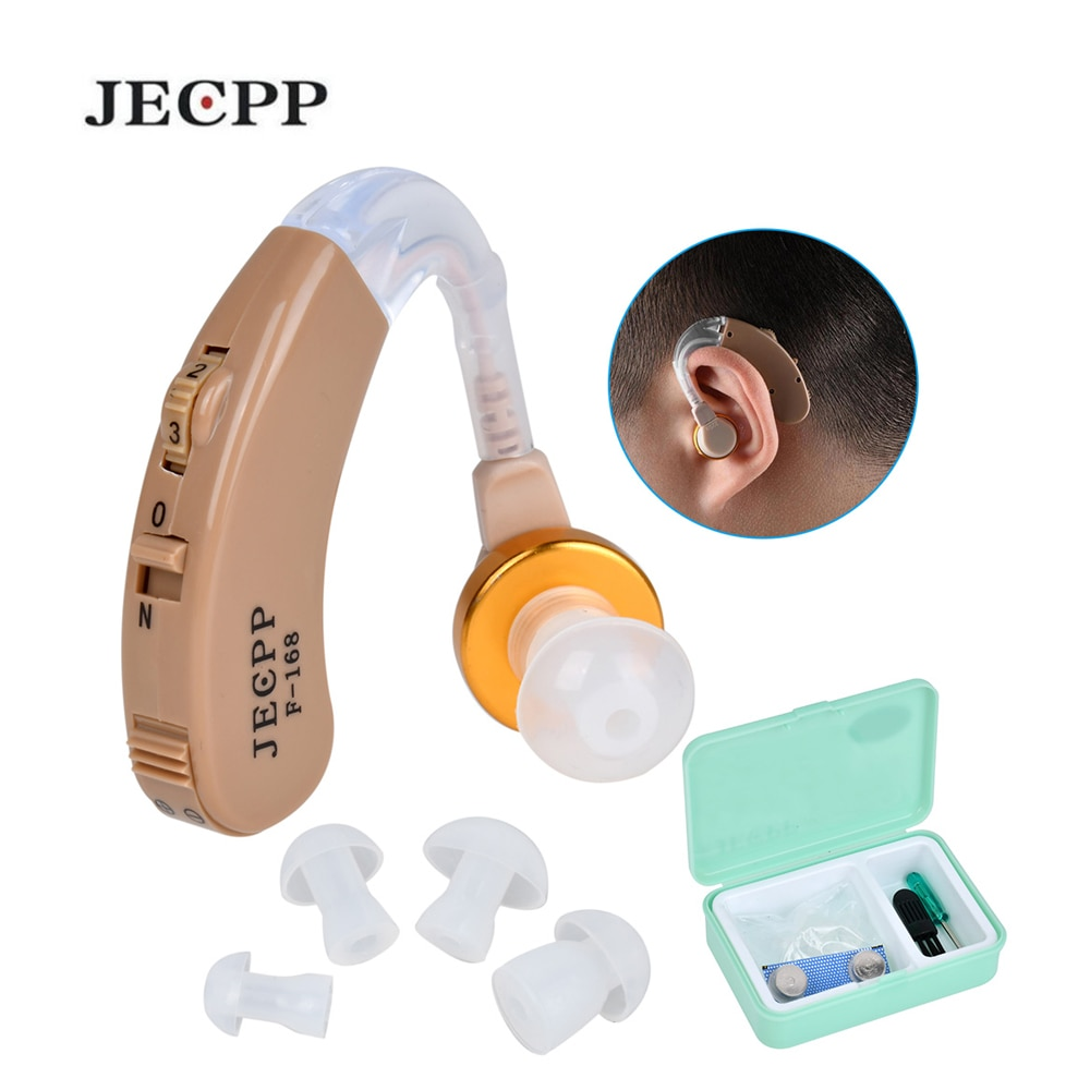 F-168 BTE Hearing Aids Voice Amplifier Device Adjustable Sound Enhancer Hearing Aid Kit Ear Care