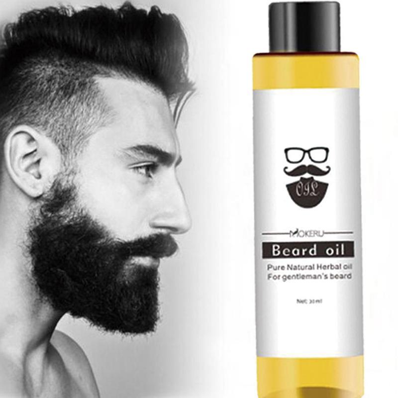 Mokeru-aceite orgánico de barba 100%, productos para la pérdida de cabello, aceite de pulverización para el crecimiento de la barba, para hombres, hidratación y suavizante, 30ml