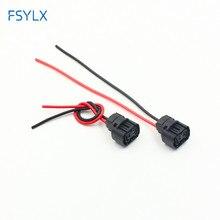Fsylx 2 pçs h16 5202 nevoeiro farol titular plug carro h16/5202/2504/psx24w lâmpadas conector fêmea adaptadores cablagem soquete