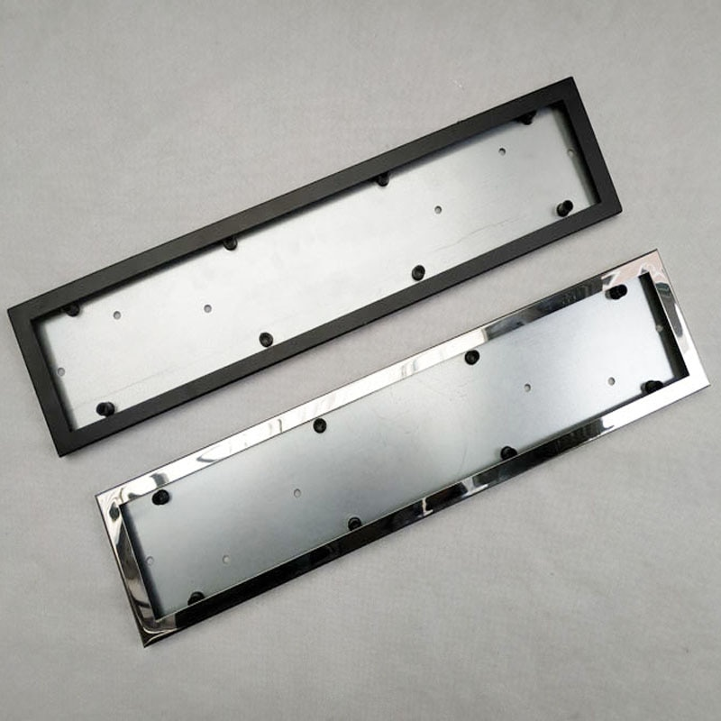 1 pcs car license plate frame stainless steel license plate frame number plate holder front and rear fit eu 1pcs Car License Plate Frame metal frame Car License Plate Frame Number plate Holder Fit EU Vehicles Standard Car Styling