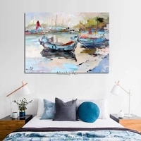100 hand painted landscape canvas painting oil paint art lovers walks in the street oil painting home decor gift for wall deco