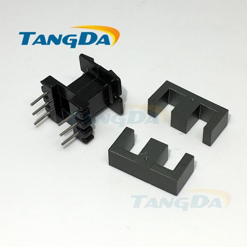 Tangda EE16 الأساسية EE بكرة المغناطيسي النواة + الهيكل العظمي ناعم المغناطيسية ferrites المغناطيسي النواة 3 + 3pin SMPS RF المحولات a.
