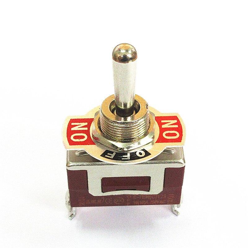 Interruptor de palanca E-TEN123 interruptor de cabezal de vibración 3 pies 3 engranaje Apertura de auto reinicio Bilateral 12 MM