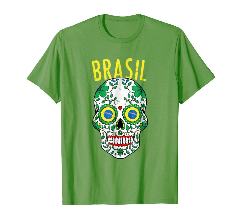 2019 New Brand Sales Cotton Short Sleeve Brasil Team Shirt 2019 for Brazil Soccers  Fans Military T Shirts