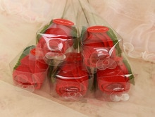 Futon 20x20cm  Gift Towel red rose Microfiber Washcloth Wedding Gift Color Wholesale 10 pcs