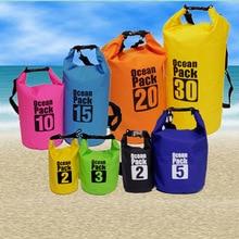 2L, 3L, 5L, 10L, 15L, 20L, 30L, Ультралегкая сумка для плавания, сухая, 7 видов цветов, для улицы, ПВХ, для каякинга, для хранения, дрейфующих, водонепроница...