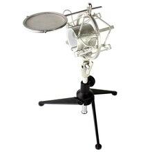 Trépied socle de bureau araignée Microphone montage choc vent écran Pop filtre Mic bouclier pour Neumann U 89 i U89i TLM 193 TLM193 U497