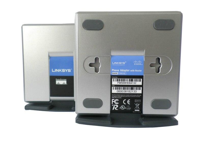 شحن مجاني! مقفلة SPA2102 لينكسيس محول الصوت عبر بروتوكول الإنترنت مع سعر المصنع راوتر مع صندوق البيع بالتجزئة