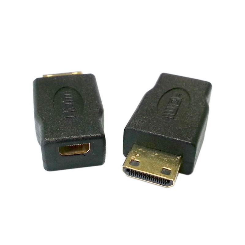 Adaptador convertidor Micro HDMI tipo D hembra a mini HDMI 1,4 tipo C V macho