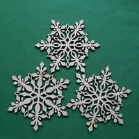 new fashion wood christmas tree ornaments laser cut wood decor christmas wooden snowflake ornaments