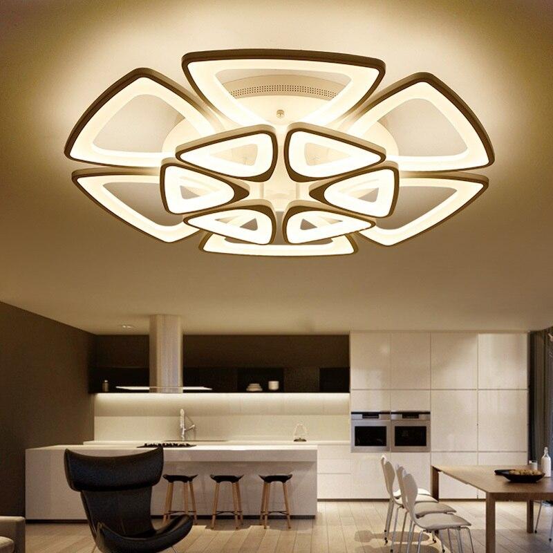 Acrílico moderno conduziu a iluminação interior das lâmpadas de teto e dispositivos elétricos de iluminação comerciais luzes de teto ajustáveis 110-240 v