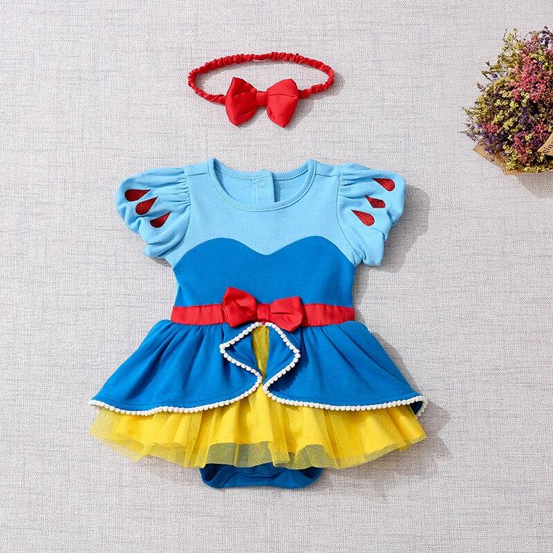 Детский комбинезон; Одежда для новорожденных девочек; Костюм Русалки Белоснежки; Комбинезон для маленьких девочек; комбинезон принцессы для первого дня рождения; одежда для малышей