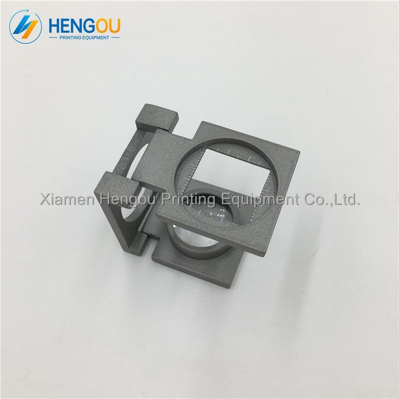 1 Piece Full Metal Folding 12X Magnifying Glass for Heidelberg Roland Offset Printing Machine etc.