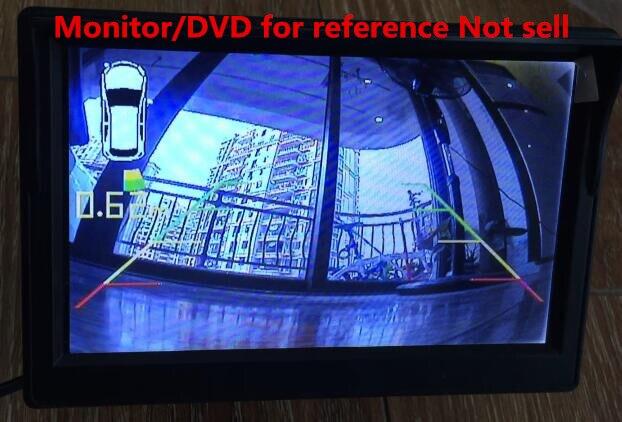 Sistema de aparcamiento con sensor automático, sensores de marcha atrás para coche, 4 PDC, funcionan especialmente para BMW Original + Cámara OSD y opcional inalámbrico