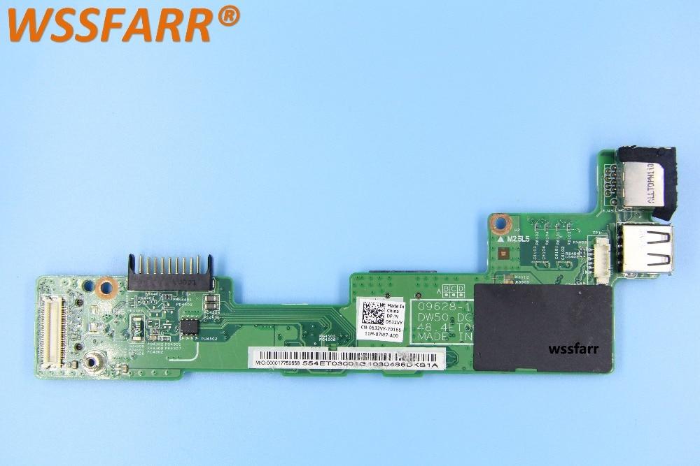 Original CN-0632VY 0632VY Ethernet USB cargador junta para DELL Vostro 3500 v3500 DC Jack Board 09628-1 DW50 DCIN BD 48.4ET06.011