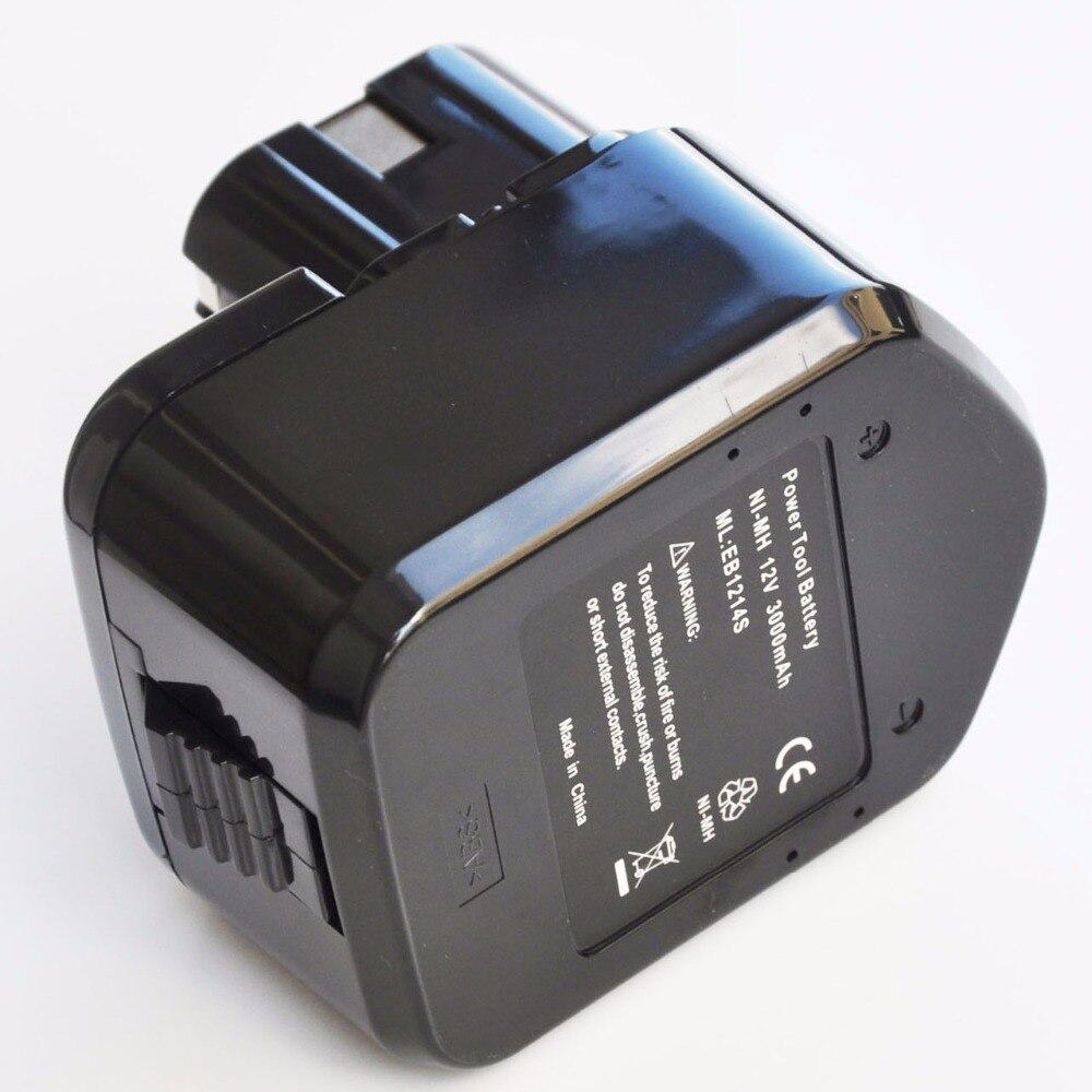 Batterie rechargeable Ni-MH 3000mah 12V pour perceuse électrique sans fil Hitachi, 1 à 2 pièces, pour tournevis EB1214L EB1214S