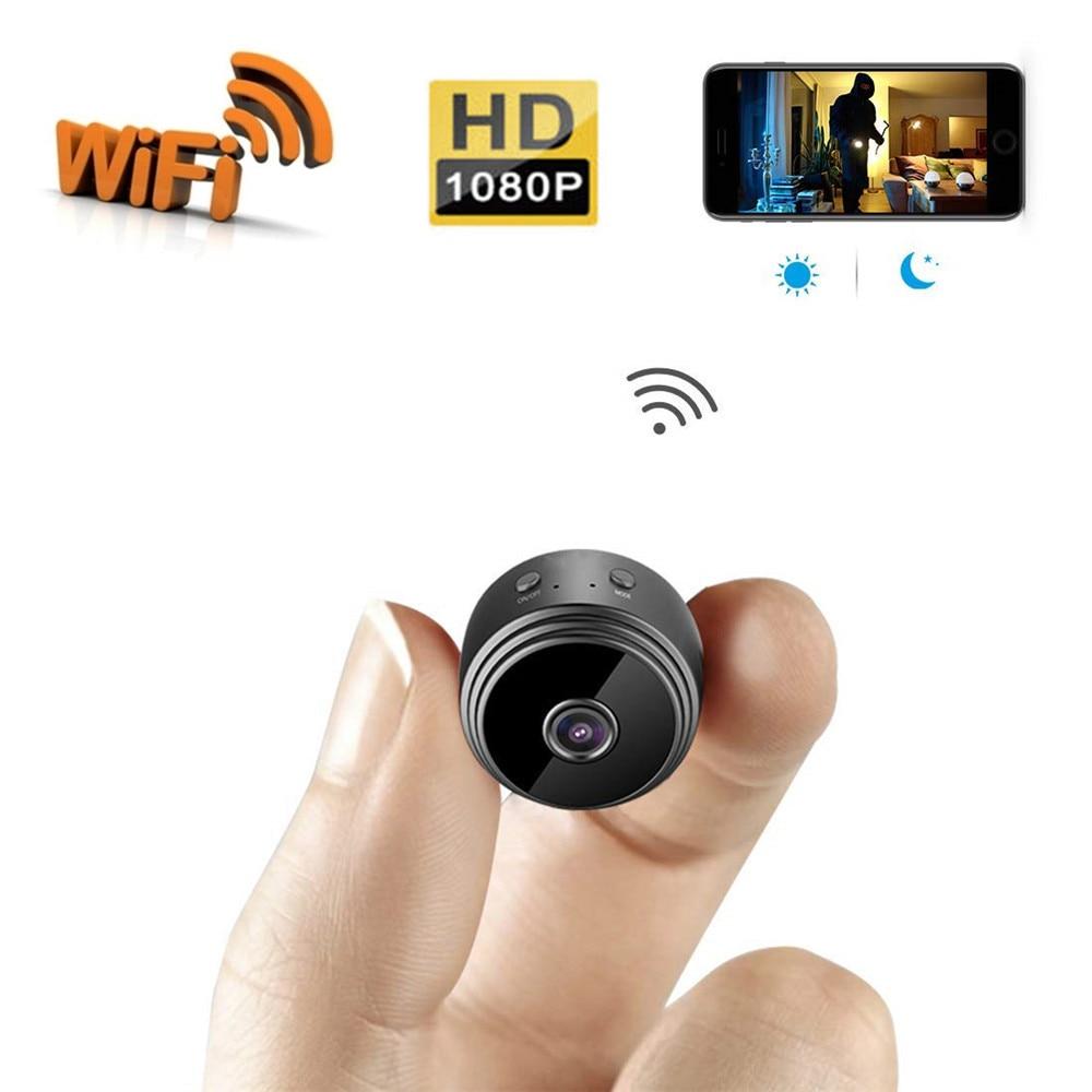 Nueva Mini cámara HD 1080P WiFi gran angular de visión nocturna para interiores pequeña videocámara de seguridad para apartamento con detección de movimiento