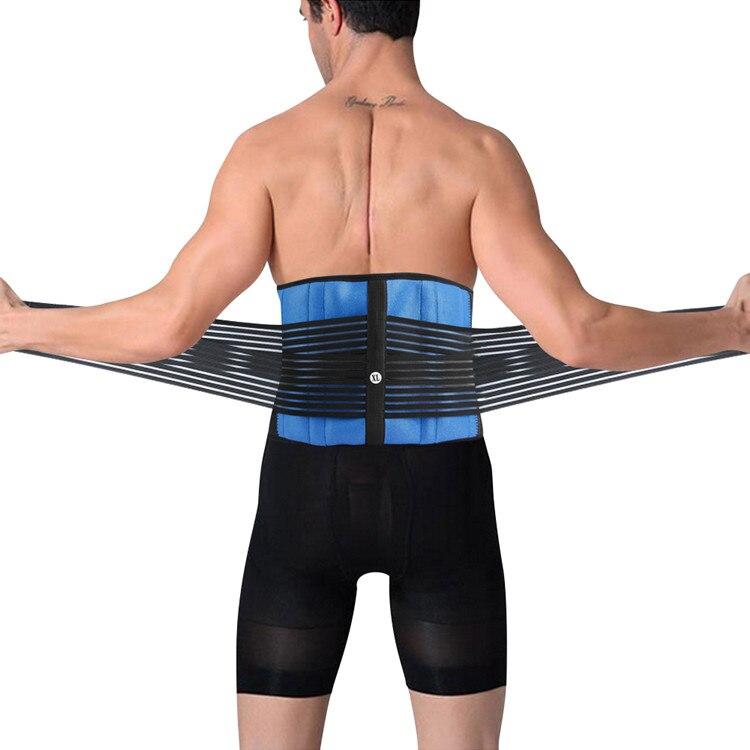 Cinturón elástico de talla grande XXXXXL XXXXXXL para soporte de postura de espalda baja de neopreno con dos tiras en la zona lumbar