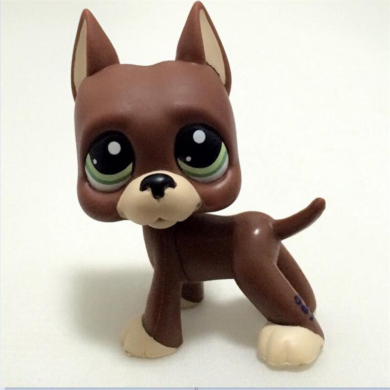Tienda de mascotas Lps juguetes perro Gran DANE Colección Real Blanco marrón viejo cachorro más pequeño Animal figura lindo niño regalo #817 #750 #577