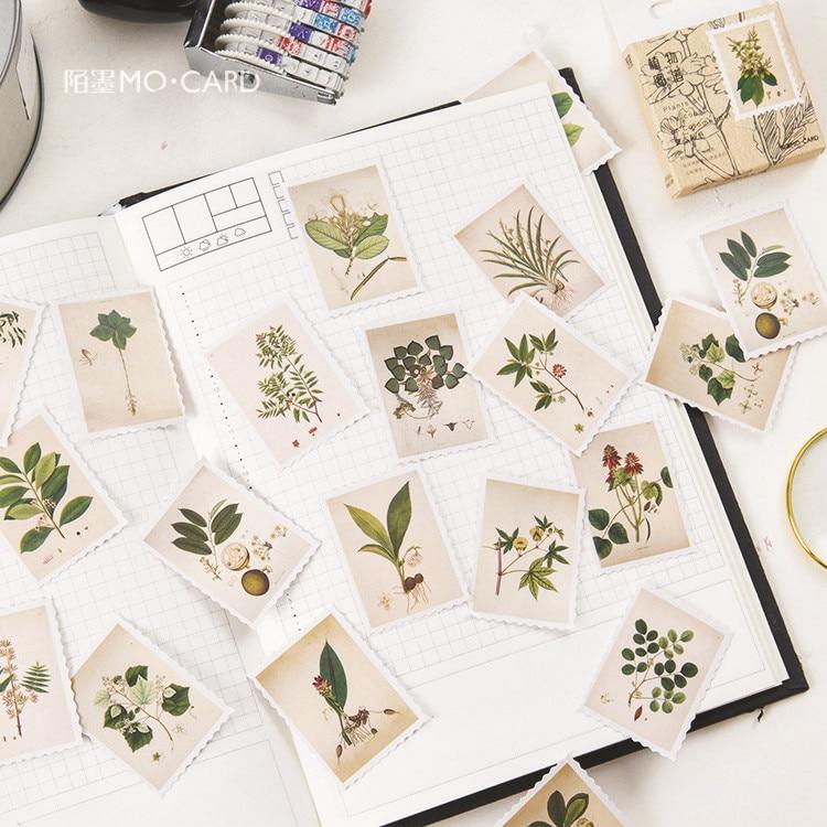 45-unids-pack-plantas-guia-mini-pegatina-de-papel-para-decoracion-diy-album-de-recortes-diario-sello-pegatina-kawaii-papeleria