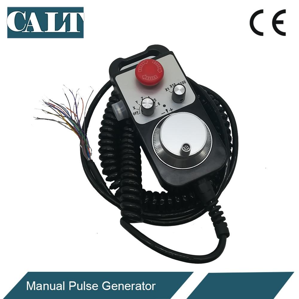 CALT CNC Controller Hand Wheel Encoder 6 Axles MPG Manual Pulse Generator With E Stop Milling Machine TM1474-100BSL5