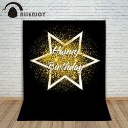 Fotografia fundo das crianças aniversário abstrato ouro layout arte arte estrela impressão digital feliz festa estúdio foto prop