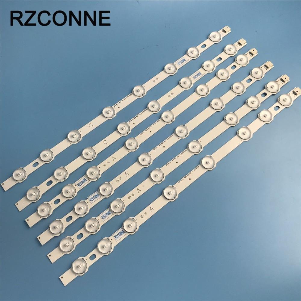 Tira de LED de 8leds para LG Innotek 42FHD-L NDV REV0.2 A + tipo C Hitachi 42HXT12U 42HXT42U PHILIPS 42PFL3008H12 VES420UNDL-N01
